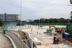 Ulu Pandan Bus Depot: View from Business Pk Dr