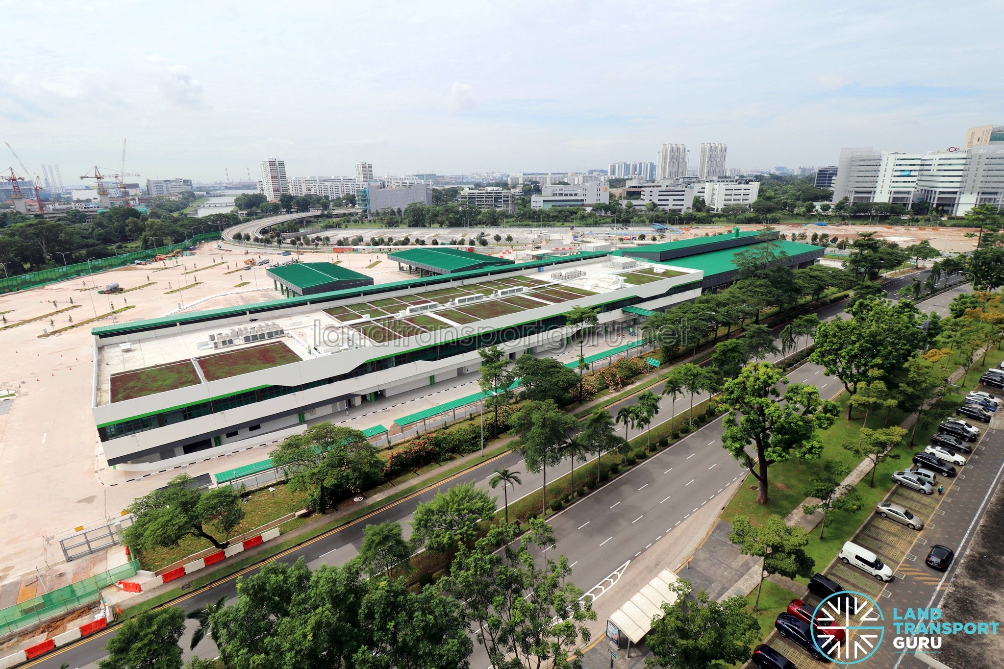 Ulu Pandan Bus Depot: Overhead view (Dec 2017)