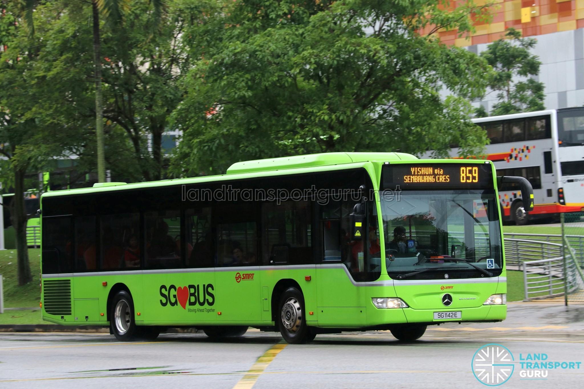 SMRT Mercedes Benz Citaro (SG1142E) - Service 859