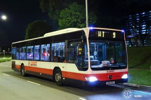 SMRT Mercedes Benz Citaro (SMB168K) - Worker's Transport WT9