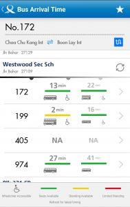 Service 974 Arrival Timings on LTA DataMall