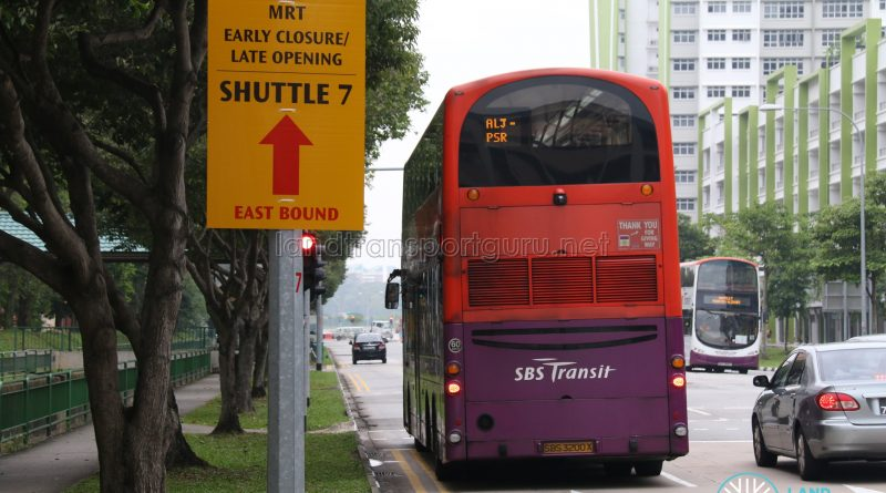 SBS Transit Volvo B9TL Wright (SBS3200X) - Shuttle 7