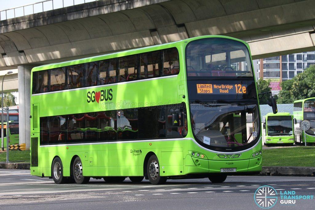 Bus 12e - Go-Ahead Volvo B9TL (SG5114K)
