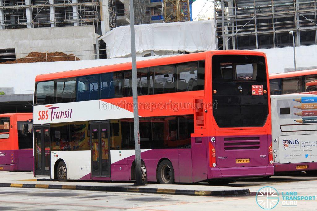 SBS Transit Volvo B9TL Gemilang (SBS7777Y) - Rear