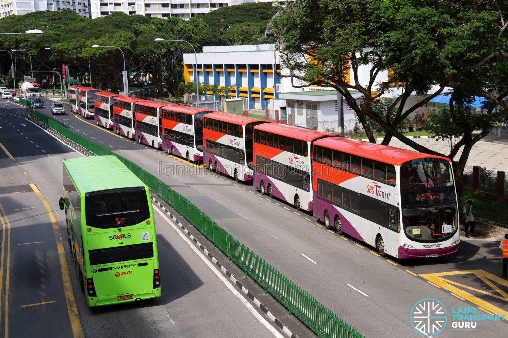 Shuttle 7 Buses at Aljunied