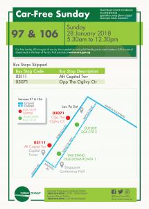 Tower Transit Bus Diversion Poster for Car-Free Sunday Jan 2018