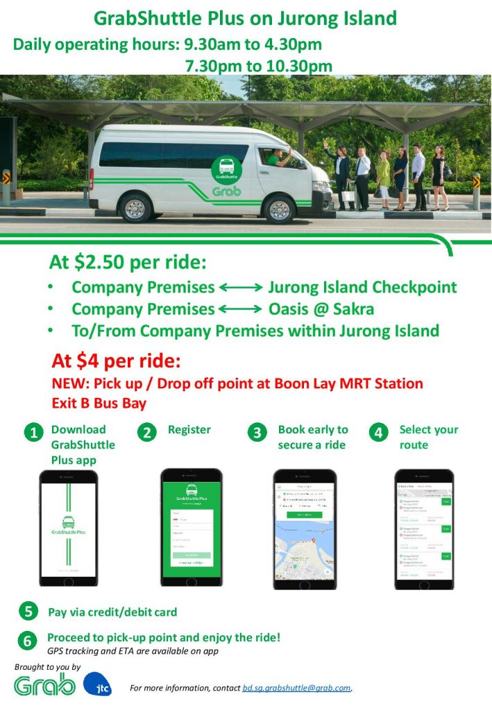 Jurong Island On-Demand Bus Service Poster