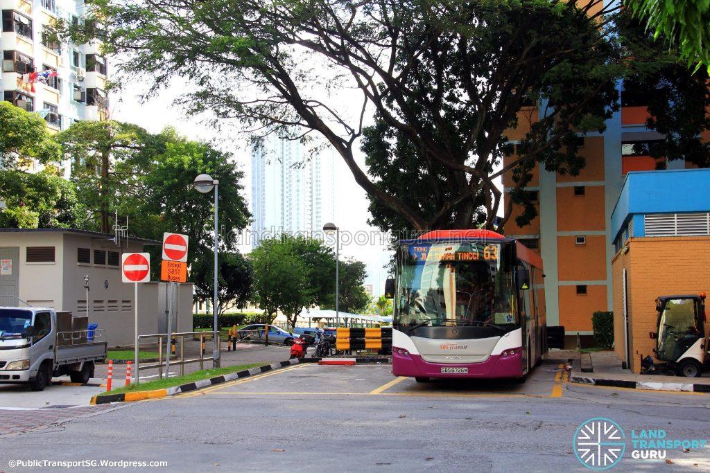 Parking Lots at Rumah Tinggi Bus Terminal