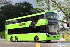 SBS Transit Volvo B8L (SG4003D) departing the Seletar Bus Carnival