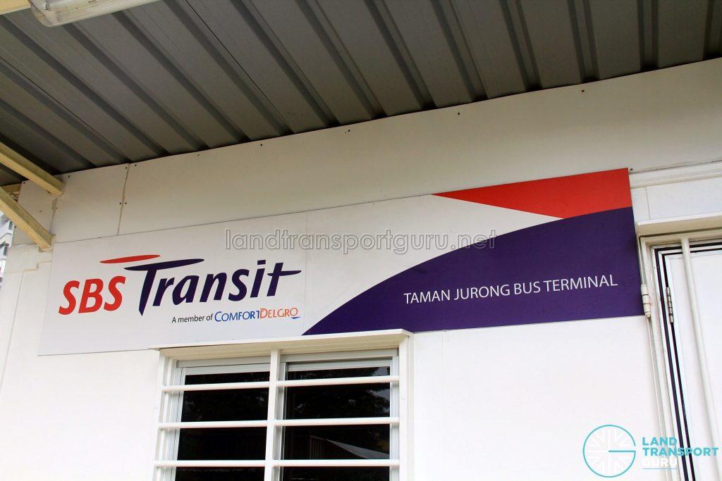 Taman Jurong Bus Terminal - Signage