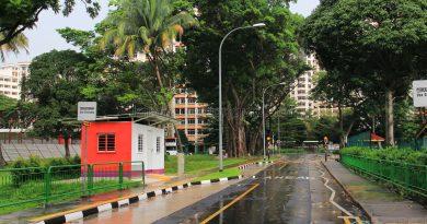Taman Jurong Bus Terminal - View towards Corporation Dr