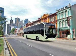 Volvo 7900 Electric in Singapore: Artists Impression