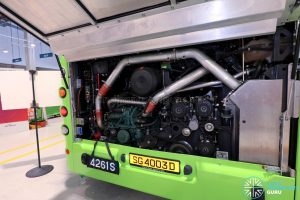 Volvo B8L (SG4003D) - Engine Bay