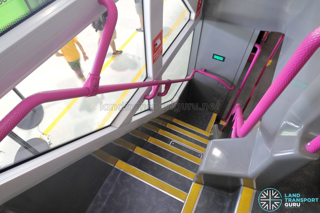 Volvo B8L (SG4003D) - Staircase from Upper Deck