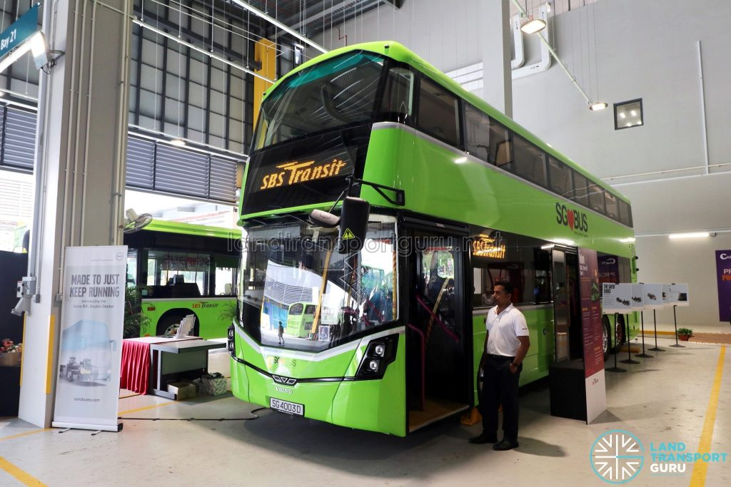 Volvo B8L (SG4003D) on static display at the Seletar Bus Carnival