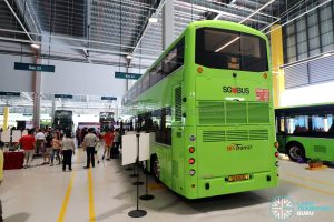 Volvo B8L (SG4003D) at the Seletar Bus Carnival: Rear view