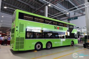 Volvo B8L (SG4003D) at the Seletar Bus Carnival: Side view