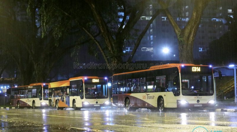 SBS Transit Employee Bus Services at Woodlands Centre Road