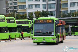 Gong Xi Fa Cai display on Bus 382W