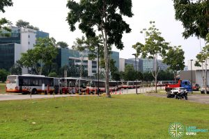 Airshow Shuttle 2018 - Buses entering Singapore Expo Carpark