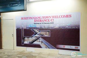 Bukit Panjang MRT Station Exit C hoarding