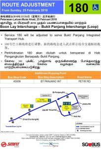 Service 180 Amendment to Bukit Panjang ITH Poster (Feb 2018)