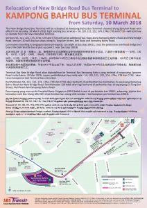 Relocation of New Bridge Road Bus Terminal to Kampong Bahru Bus Terminal - SBS Transit Poster