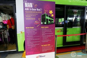 MAN A95 3 Door Bus Display Stand at the Seletar Bus Depot Carnival
