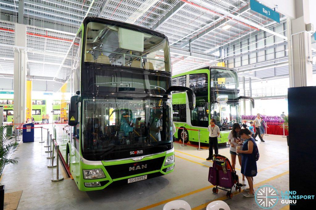 SBS Transit MAN A95 Lion's City DD L on display at the Seletar Bus Depot Carnival