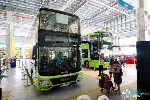 SBS Transit MAN A95 Lion's City DD L on display at the Seletar Bus Depot Carnival