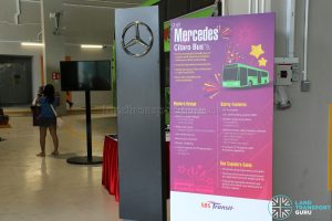 Mercedes-Benz Citaro Display Stand at the Seletar Bus Depot Carnival