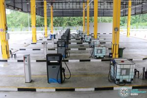 Seletar Bus Depot - Refueling Lanes with AdBlue Tanks