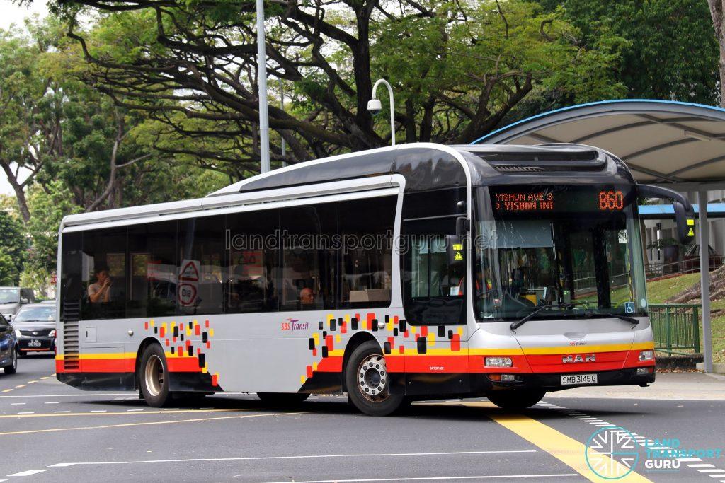 Service 860 - SBS Transit MAN NL323F (SMB3145G)