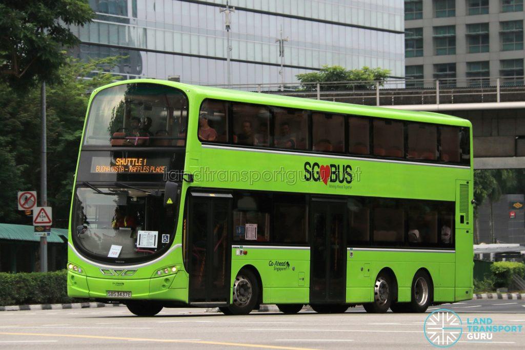 Shuttle 1 - Go-Ahead Volvo B9TL Wright (SBS3437E)
