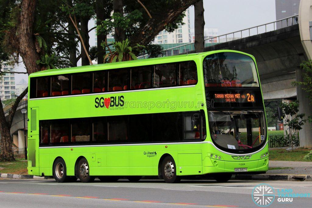Service 2A - Go-Ahead Singapore Volvo B9TL Wright (SBS3457Y)