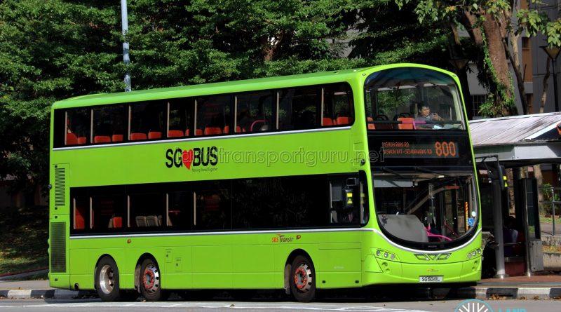 Service 800 - SBS Transit Volvo B9TL Wright (SG5041L)