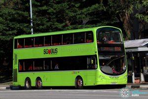 Service 811A - SBS Transit Volvo B9TL Wright (SG5051H)