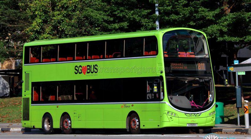 Service 811 - SBS Transit Volvo B9TL Wright (SG5128X)