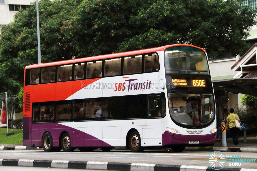 Service 850E - SBS Transit Volvo B9TL Wright (SG5179Z)