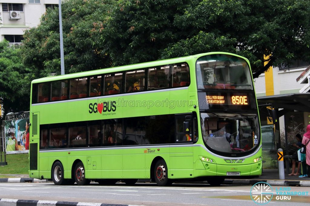 Service 850E - SBS Transit Volvo B9TL Wright (SG5558M)
