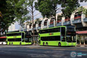 SBS Transit MAN A95 (SG5839C Service 7) & Go-Ahead MAN A95 (SG5906S Service 12)