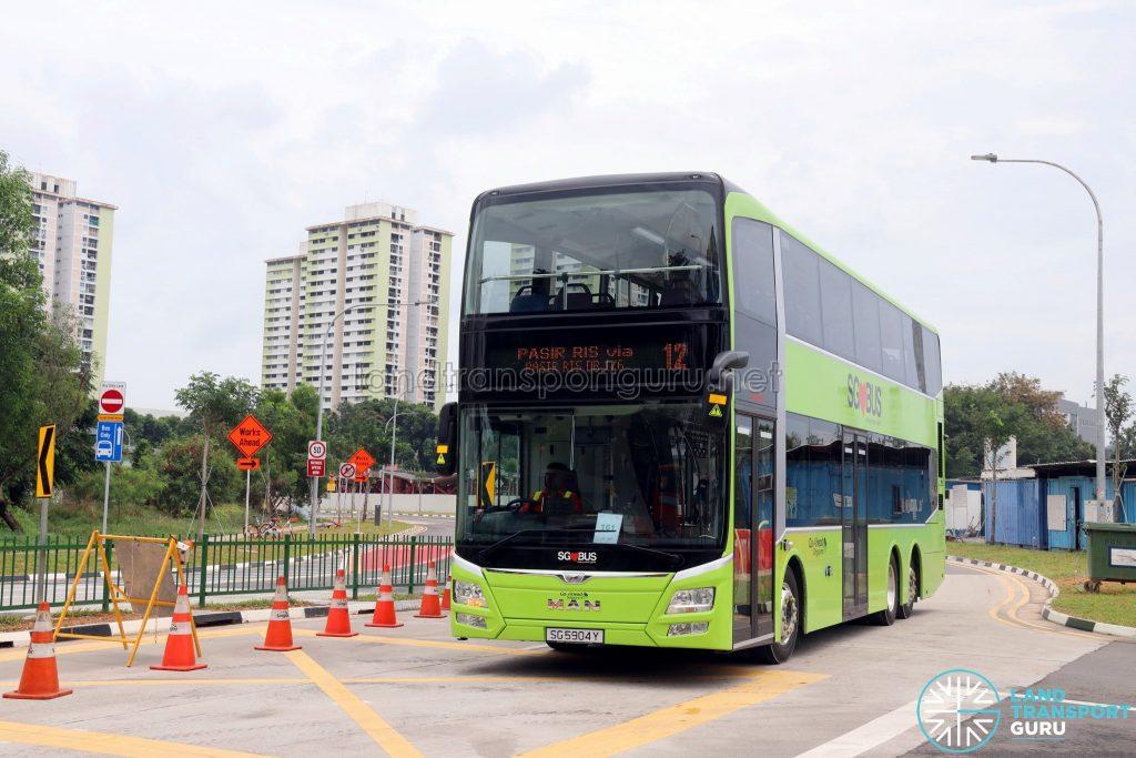 Service 12 - Go-Ahead Singapore MAN A95 (SG5904Y)