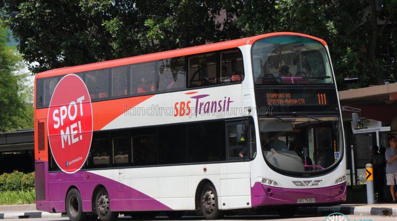 Service 111 - SBS Transit Volvo B9TL Wright (SBS7538X)