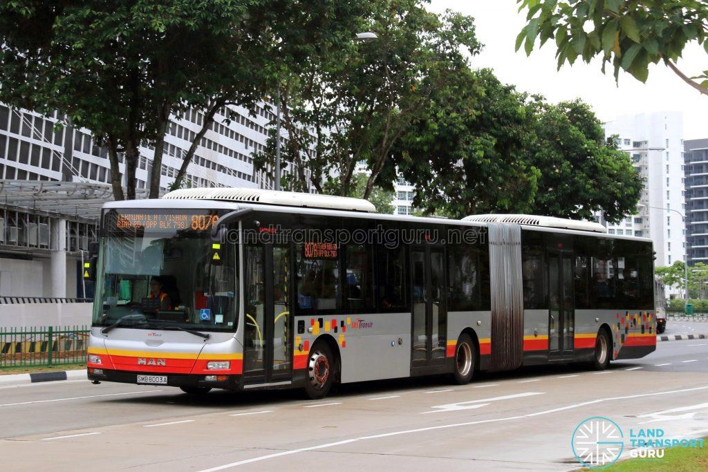 Service 807A - SBS Transit MAN A24 (SMB8003A)