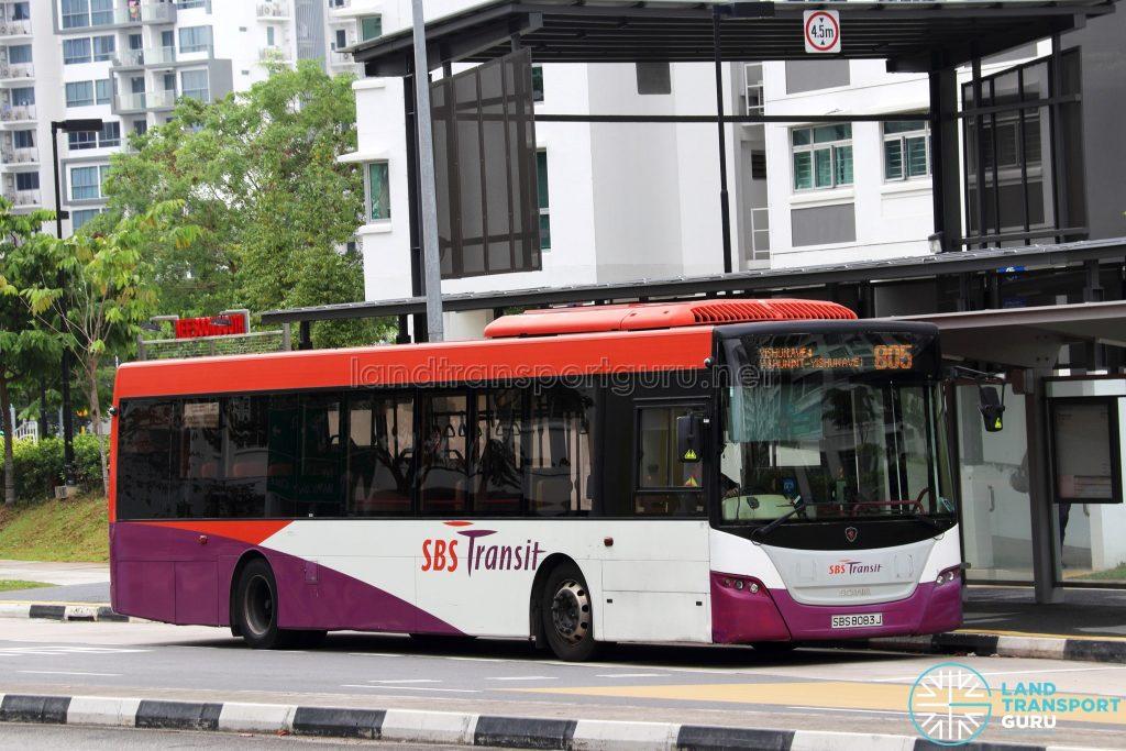 Service 805 - SBS Transit Scania K230UB Euro IV (SBS8083J)