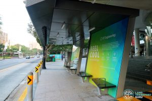 Airbitat Oasis Smart Bus Stop (Back to Front)