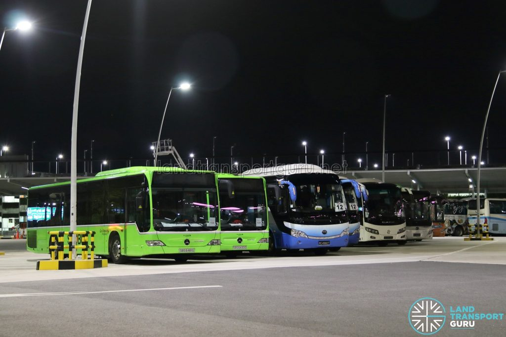 March 2018 ECLO: Go-Ahead Mercedes-Benz Citaros deployed on standby, alongside private buses on Shuttle 8 and Express 12