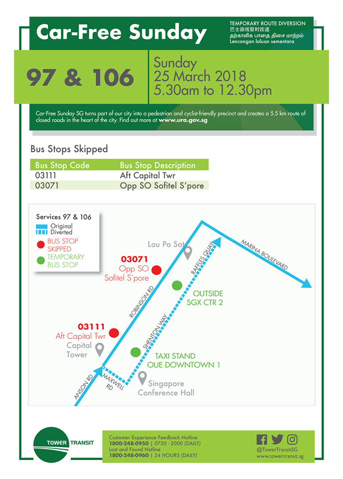 Tower Transit Poster for Car Free Sunday (25 March 2018)
