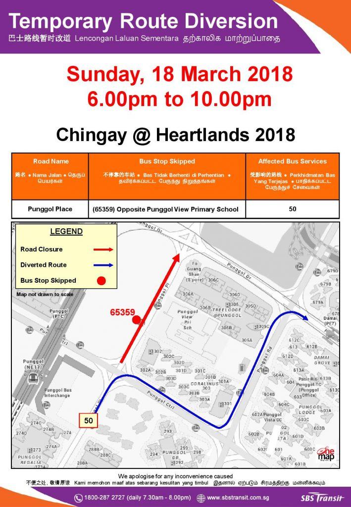 SBS Transit Poster for Chingay @ Heartlands 2018 (Punggol)