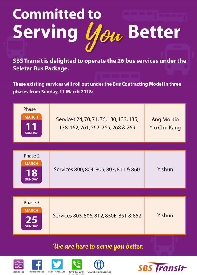SBS Transit Seletar Bus Package Takeover Poster